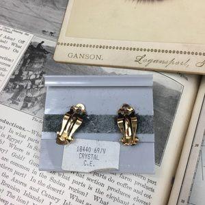 Swarovski Jewelry - Vintage Vonelle Swarovski Crystal Clip-on Earrings